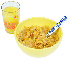 Cereal and orange juice uid 1197396