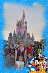 Here are the kids and I at Disney World in 2012. My husband didn't join us because he started his own law firm 6 weeks before the trip. My mom joined us instead.