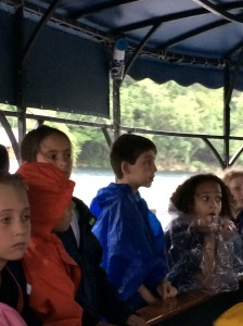Jase on the glass-bottom boat on his third grade field trip to The Meadows Center in San Marcos.